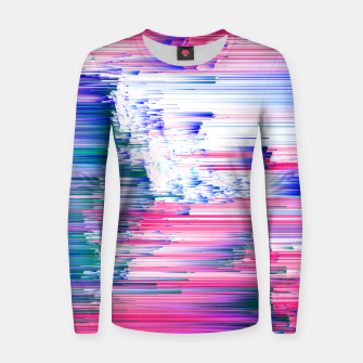 Miniatur Pastel 90s Glitch - Abstract Pixel Art Woman cotton sweater, Live Heroes