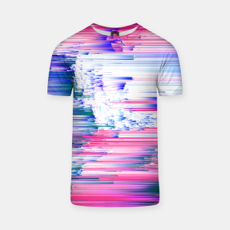 Miniatur Pastel 90s Glitch - Abstract Pixel Art T-shirt, Live Heroes