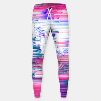 Miniatur Pastel 90s Glitch - Abstract Pixel Art Cotton sweatpants, Live Heroes