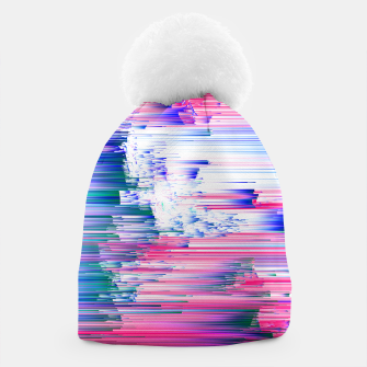 Miniatur Pastel 90s Glitch - Abstract Pixel Art Beanie, Live Heroes