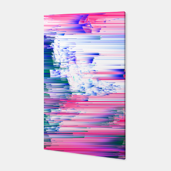 Miniatur Pastel 90s Glitch - Abstract Pixel Art Canvas, Live Heroes