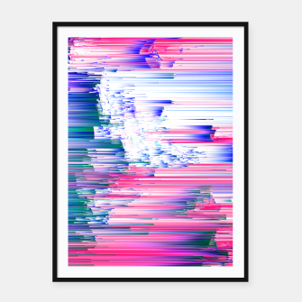 Miniatur Pastel 90s Glitch - Abstract Pixel Art Framed poster, Live Heroes