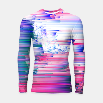 Pastel 90s Glitch - Abstract Pixel Art Longsleeve rashguard  thumbnail image