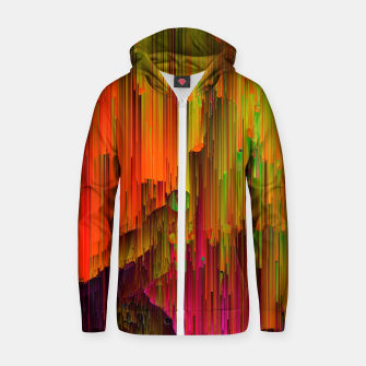 Thumbnail image of Radioactive - Abstract Glitchy Pixel Art Cotton zip up hoodie, Live Heroes