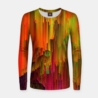 Thumbnail image of Radioactive - Abstract Glitchy Pixel Art Woman cotton sweater, Live Heroes