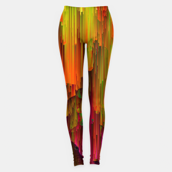 Thumbnail image of Radioactive - Abstract Glitchy Pixel Art Leggings, Live Heroes