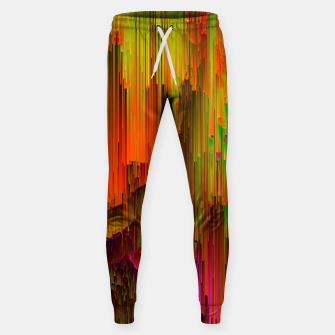 Thumbnail image of Radioactive - Abstract Glitchy Pixel Art Cotton sweatpants, Live Heroes