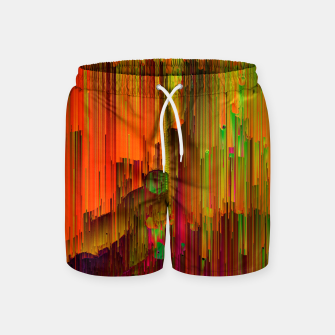 Thumbnail image of Radioactive - Abstract Glitchy Pixel Art Swim Shorts, Live Heroes