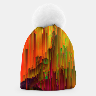 Thumbnail image of Radioactive - Abstract Glitchy Pixel Art Beanie, Live Heroes