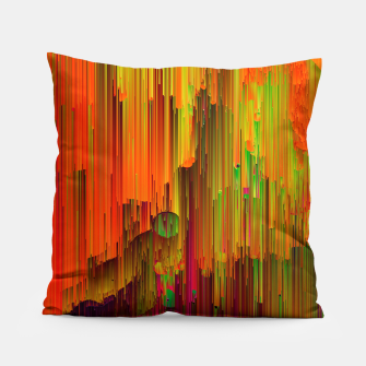 Thumbnail image of Radioactive - Abstract Glitchy Pixel Art Pillow, Live Heroes