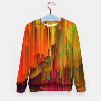 Thumbnail image of Radioactive - Abstract Glitchy Pixel Art Kid's sweater, Live Heroes