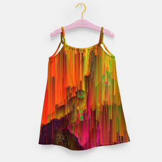 Thumbnail image of Radioactive - Abstract Glitchy Pixel Art Girl's dress, Live Heroes