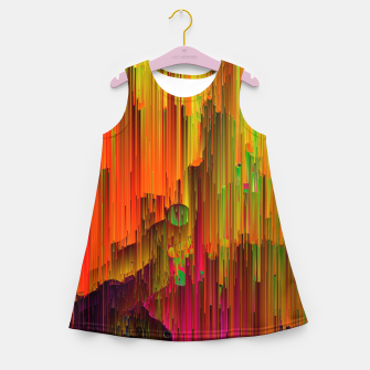 Thumbnail image of Radioactive - Abstract Glitchy Pixel Art Girl's summer dress, Live Heroes