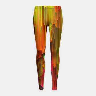 Thumbnail image of Radioactive - Abstract Glitchy Pixel Art Girl's leggings, Live Heroes