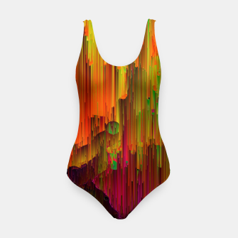 Thumbnail image of Radioactive - Abstract Glitchy Pixel Art Swimsuit, Live Heroes