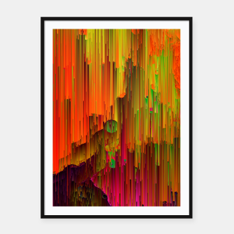 Thumbnail image of Radioactive - Abstract Glitchy Pixel Art Framed poster, Live Heroes