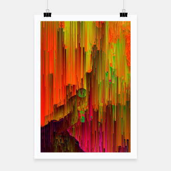 Thumbnail image of Radioactive - Abstract Glitchy Pixel Art Poster, Live Heroes