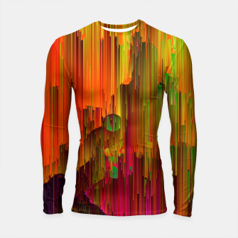 Thumbnail image of Radioactive - Abstract Glitchy Pixel Art Longsleeve rashguard , Live Heroes