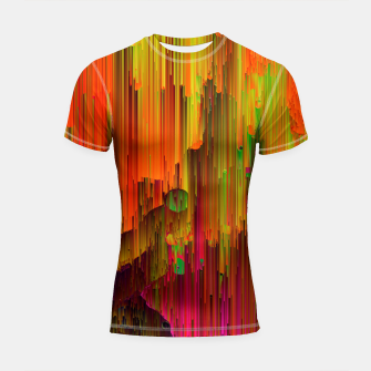 Thumbnail image of Radioactive - Abstract Glitchy Pixel Art Shortsleeve rashguard, Live Heroes