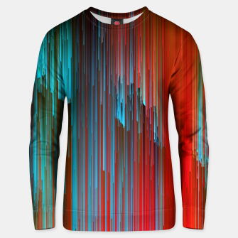 Thumbnail image of California Dreamin' - Abstract Glitchy Pixel Art Cotton sweater, Live Heroes