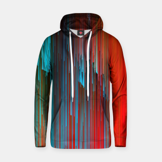 Thumbnail image of California Dreamin' - Abstract Glitchy Pixel Art Cotton hoodie, Live Heroes