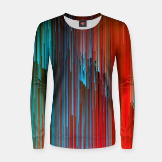 Thumbnail image of California Dreamin' - Abstract Glitchy Pixel Art Woman cotton sweater, Live Heroes