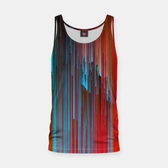 Thumbnail image of California Dreamin' - Abstract Glitchy Pixel Art Tank Top, Live Heroes