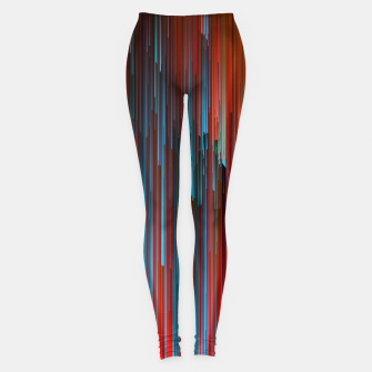 Thumbnail image of California Dreamin' - Abstract Glitchy Pixel Art Leggings, Live Heroes