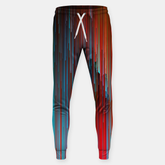 Thumbnail image of California Dreamin' - Abstract Glitchy Pixel Art Cotton sweatpants, Live Heroes