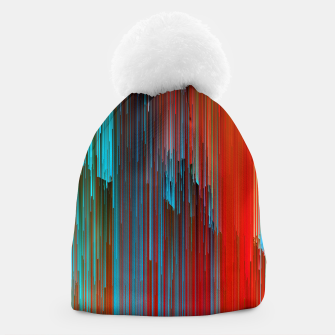 Thumbnail image of California Dreamin' - Abstract Glitchy Pixel Art Beanie, Live Heroes