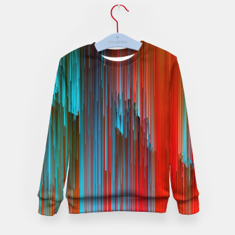Thumbnail image of California Dreamin' - Abstract Glitchy Pixel Art Kid's sweater, Live Heroes