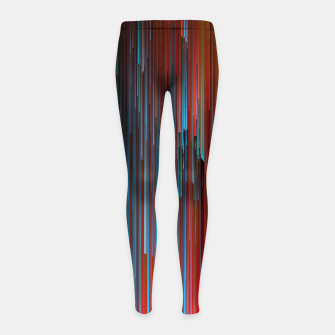 Thumbnail image of California Dreamin' - Abstract Glitchy Pixel Art Girl's leggings, Live Heroes