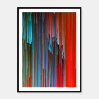Thumbnail image of California Dreamin' - Abstract Glitchy Pixel Art Framed poster, Live Heroes