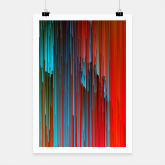 Thumbnail image of California Dreamin' - Abstract Glitchy Pixel Art Poster, Live Heroes