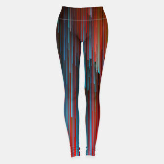 Miniaturka California Dreamin' - Abstract Glitchy Pixel Art Leggings, Live Heroes