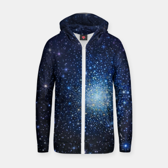 Thumbnail image of COSMOS Cotton zip up hoodie, Live Heroes