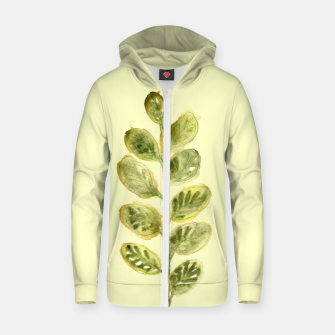 Thumbnail image of Autumn YellowGreen Leaf Cotton zip up hoodie, Live Heroes
