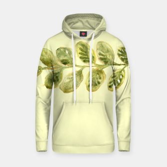 Thumbnail image of Autumn YellowGreen Leaf Cotton hoodie, Live Heroes