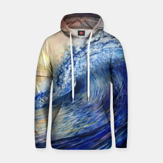 Thumbnail image of Wave Oil painting Cotton hoodie, Live Heroes