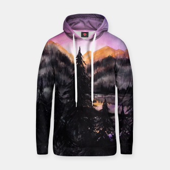 Thumbnail image of Evening Mountains Cotton hoodie, Live Heroes