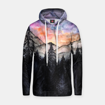 Thumbnail image of Evening Mountains2 Cotton hoodie, Live Heroes