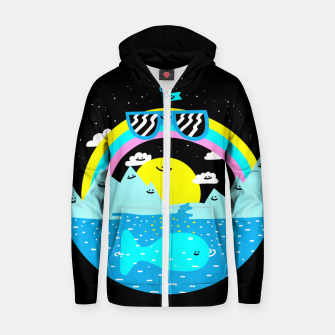 Rainbow World Cotton zip up hoodie obraz miniatury