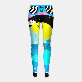 Rainbow World Girl's leggings obraz miniatury