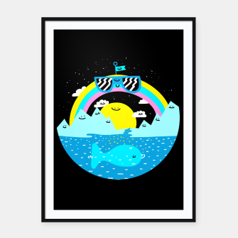 Rainbow World Framed poster obraz miniatury
