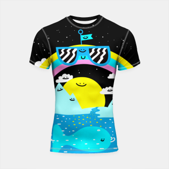 Rainbow World Shortsleeve rashguard obraz miniatury