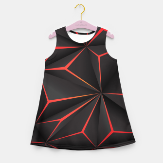 Thumbnail image of Futuristic Triangulation Girl's summer dress, Live Heroes