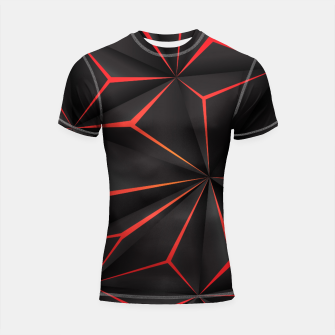 Thumbnail image of Futuristic Triangulation Shortsleeve rashguard, Live Heroes