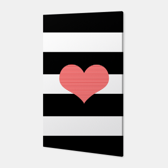 Thumbnail image of Heart - strips - black and white . Canvas, Live Heroes