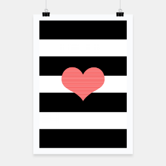 Thumbnail image of Heart - strips - black and white . Poster, Live Heroes