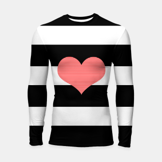 Thumbnail image of Heart - strips - black and white . Longsleeve rashguard , Live Heroes